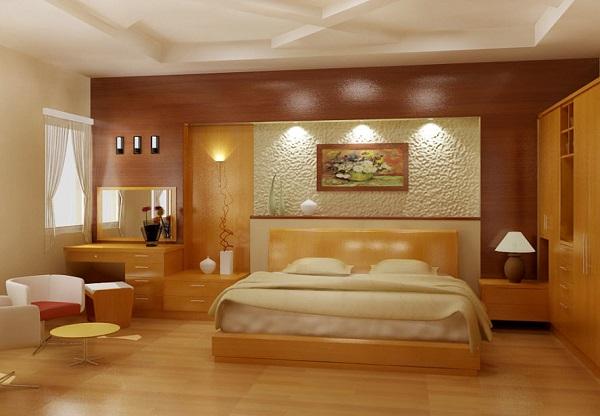 Phòng ngủ nên chọn sàn gỗ với các gam màu trung tính, ấm áp