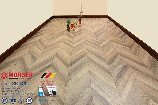 Sàn gỗ Morser xương cá XK 143