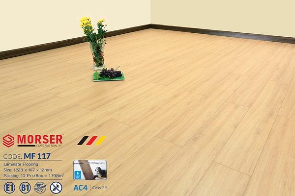 Sàn gỗ Morser 12mm cốt trắng MF 117 tại Công ty Gia Huy Phát